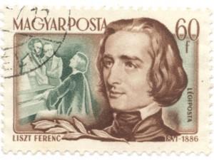 Ferenc Liszt na maďarské poštovní známce