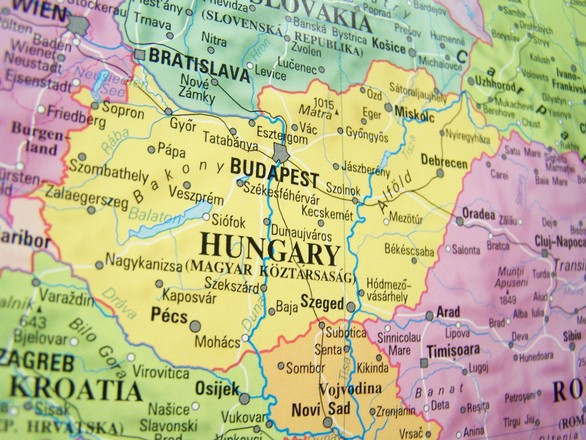 Mapa Madarska
